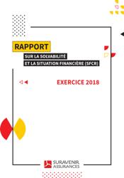 Couverture Rapport sur la solvabilité et la situation financière Suravenir assurance 2018